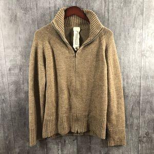Rogan Mens Baby Alpaca Mens Sweater Medium Tan